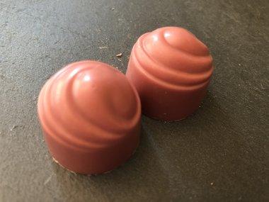 Doos met 36 Ruby bonbons.